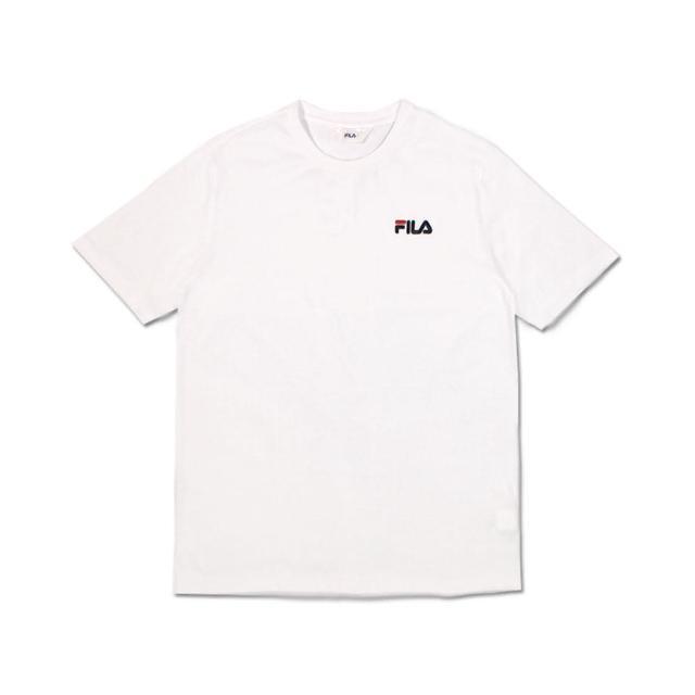 【FILA】圓領T 短 圓領上衣 男女 - 1TEV1500WT