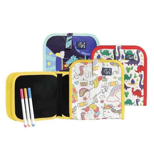 兒童塗鴉畫板(輕便攜帶式畫冊畫本 兒童塗鴉畫板 繪圖畫布 繪本 小畫版 幼兒園畫板 兒童玩具)