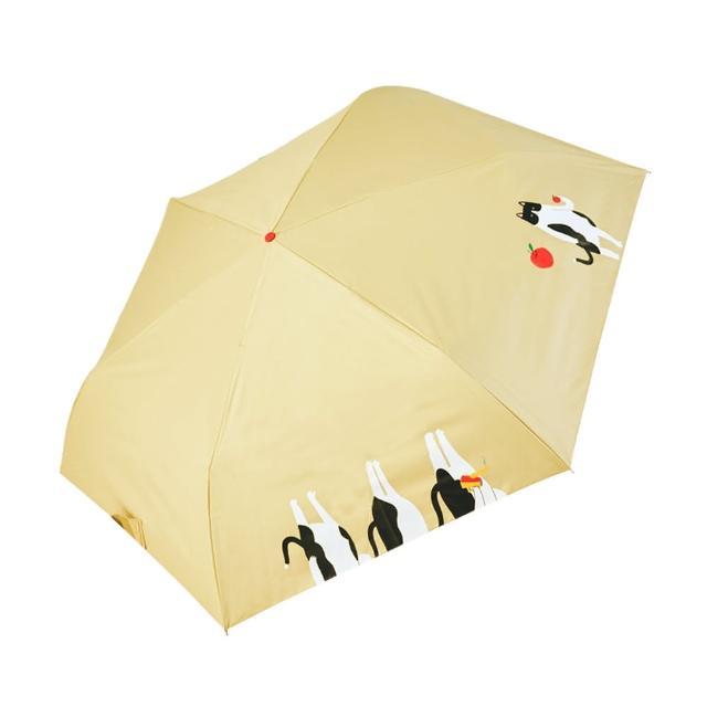 【rainstory】-8°降溫凍齡手開輕細口紅傘-蘋果貓(遮光色膠系列)