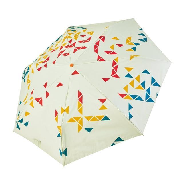 【rainstory】-8°降溫凍齡個人加大自動傘-撞色幾何-紅(遮光色膠系列)