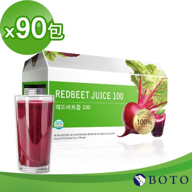 【BOTO】韓國原裝高濃度冷萃甜菜根紅妍飲x3盒(共90包)