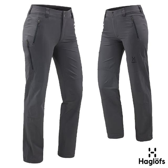【Haglofs】女 Moran 防風 防水 軟殼長褲(磁鐵色)