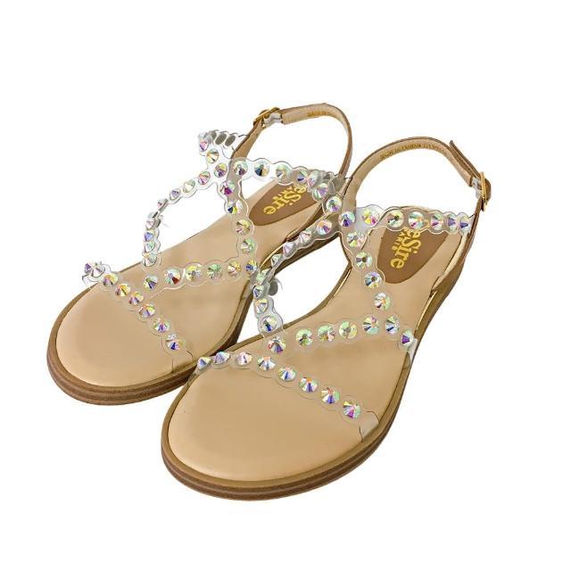 【DeSire】時尚透明細帶平底涼鞋-灰(0137102-94)
