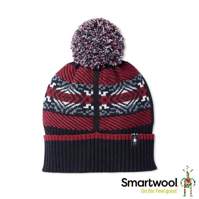 【SmartWool】CHUP聯名系列 Speren 毛球保暖毛帽(黑色)