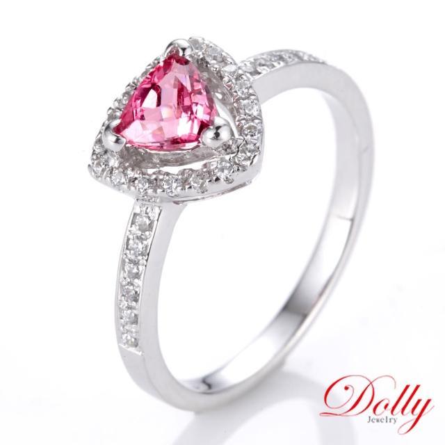 【DOLLY】無燒 霓虹尖晶石0.50克拉 銀飾戒指