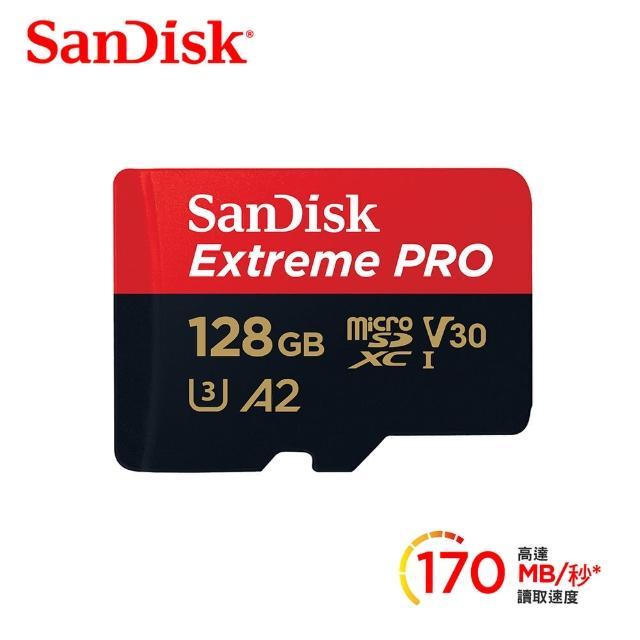 【SanDisk 晟碟】ExtremePRO microSDXC UHS-IV30 A2 128GB 記憶卡(公司貨)