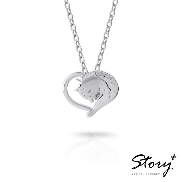 【STORY ACCESSORY】貓小姐系列-最愛妳純銀貓項鍊