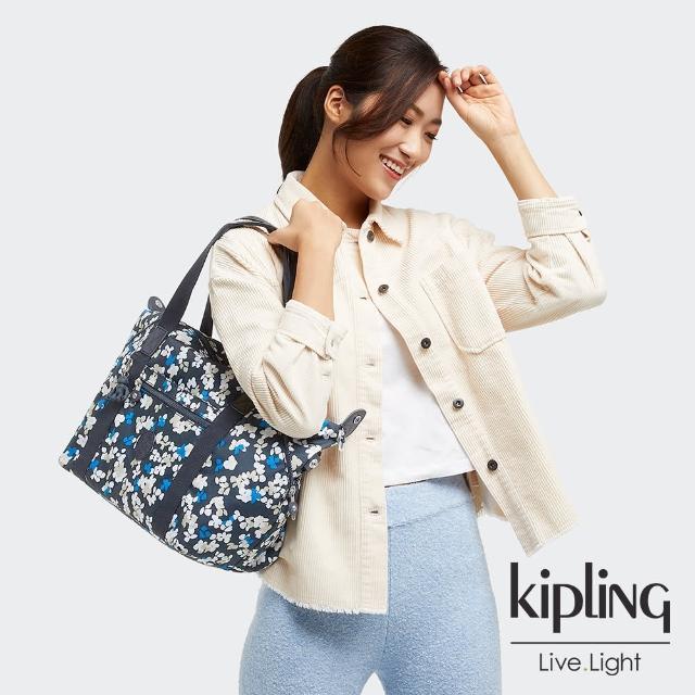【KIPLING】清新手繪碎花手提側背包-ART