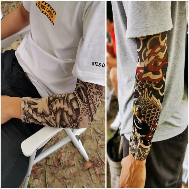 【May Shop】紋身刺青套袖防曬袖套男女款