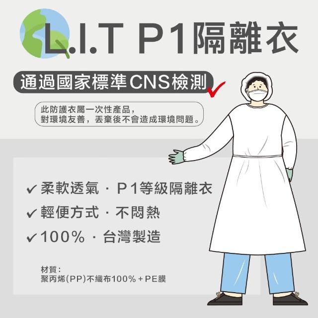 【L.I.T. CNS P1等級隔離衣】台灣製造防護隔離衣 2件組 非醫療用