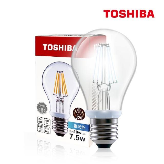 【TOSHIBA 東芝】7.5W LED 仿古燈絲燈泡(白光/黃光)