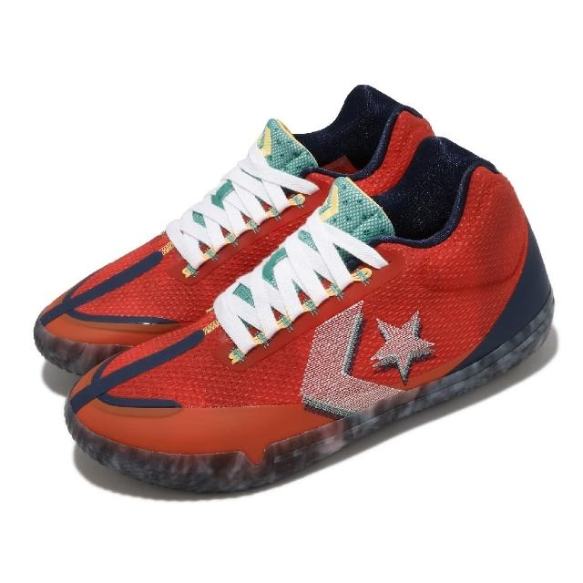 【CONVERSE】籃球鞋 All Star BB Evo 運動 男鞋 輕量 透氣 舒適 避震 包覆 球鞋 紅 藍(170761C)