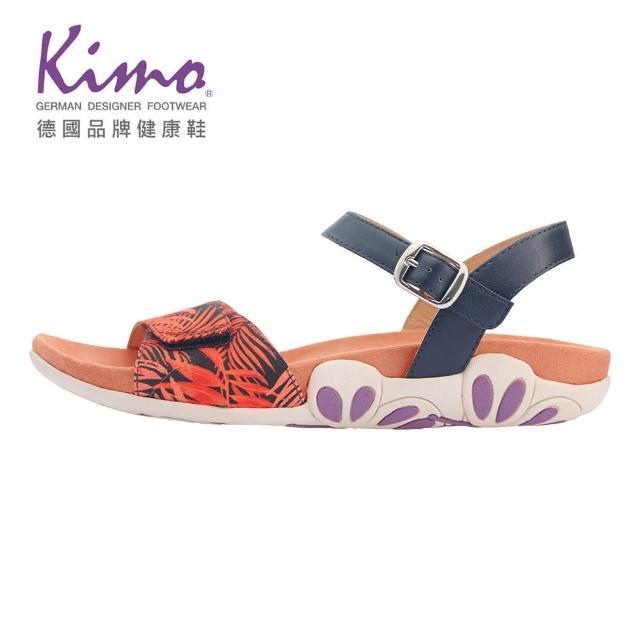 【Kimo】自然系山羊皮繫帶涼鞋 女鞋(橘 KBASF041189)
