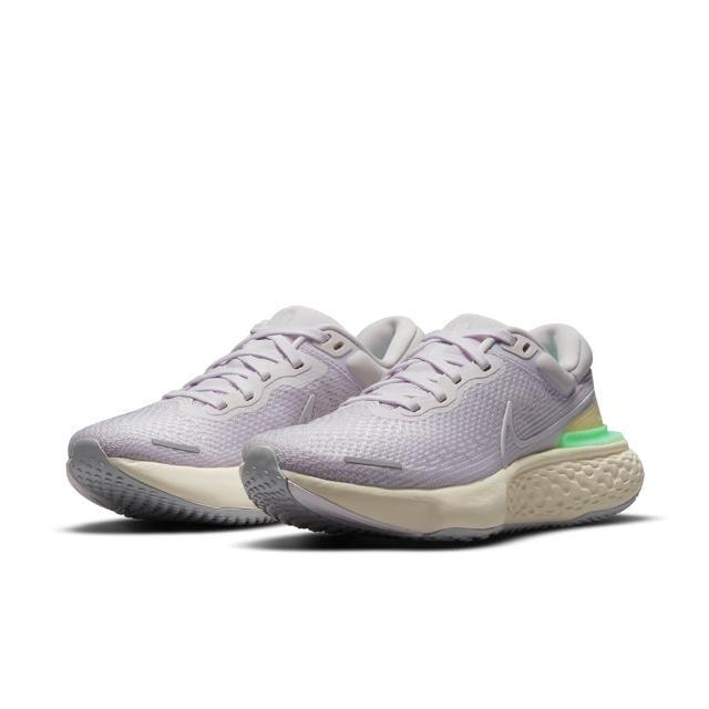 【NIKE 耐吉】慢跑鞋 女鞋 運動鞋 緩震 訓練 WMNS ZOOMX INVINCIBLE RUN FK 灰紫 CT2229-500