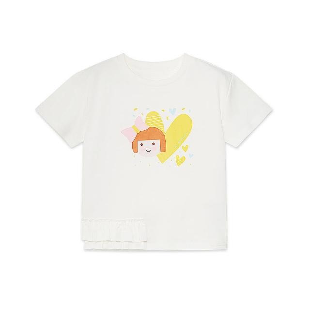 【麗嬰房】EASY輕鬆系列 女童娃娃印花棉質短袖上衣(76cm~130cm)