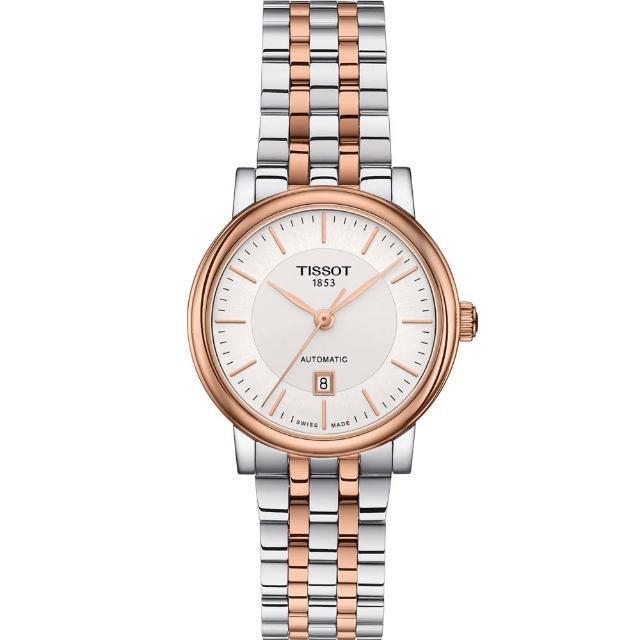 【TISSOT 天梭】TISSOT CARSON 優雅時尚機械錶(T1222072203101)