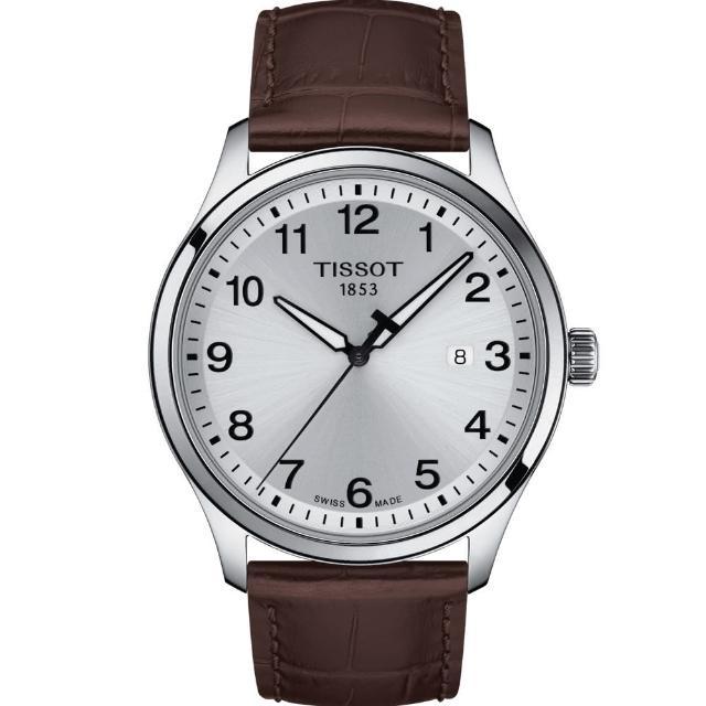 【TISSOT 天梭】TISSOT天梭GENT XL CLASSIC 經典大三針男錶(T1164101603700)