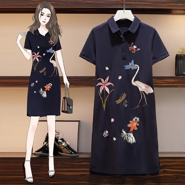 【KEITH-WILL】輕美學園藝刺繡洋裝(共1色)
