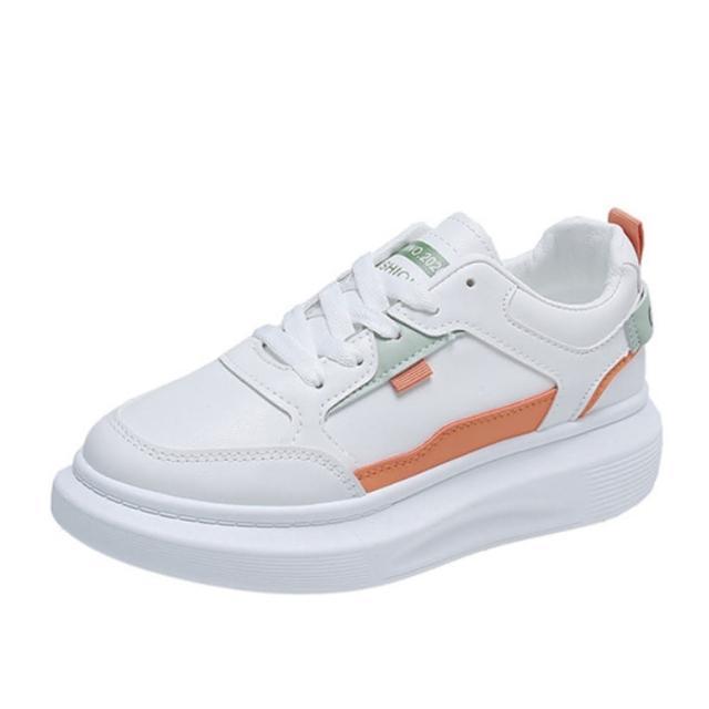 【Taroko】悠閒時刻撞色小白鞋厚底休閒鞋(3色可選)