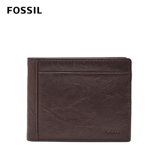 【FOSSIL】Neel 真皮兩折翻轉證件格皮夾-咖啡色 ML3899200