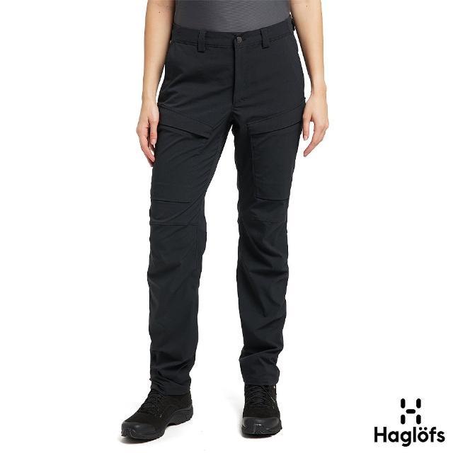 【Haglofs】女 Mid Fjord 防潑水 快乾長褲(黑色)