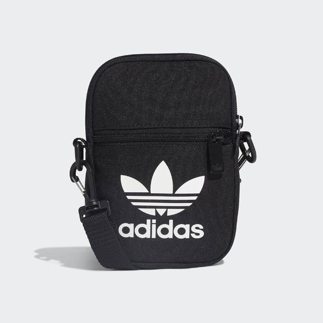 【adidas 愛迪達】FEST BAG TREF 三葉草 斜背 側背包 小包 黑色(EI7411)