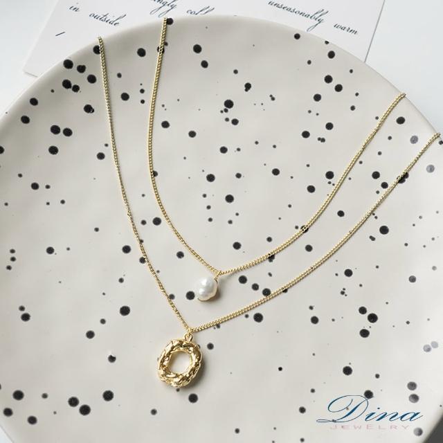 【DINA 蒂娜珠寶】凝固時間 造型韓風項鍊(JS61068)