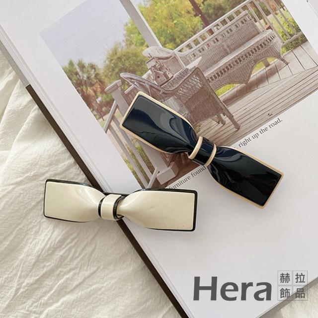 【HERA 赫拉】日本TP同款復古蝴蝶結山茶花醋酸彈簧夾髮飾-小款2入組#H100414C(復古 蝴蝶結 彈簧夾)