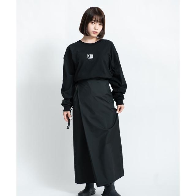 【KIU】日本KIU 抗UV透氣防水裙 內有腰圍調整扣 攤開變野餐巾 附收納袋(212900 黑色)