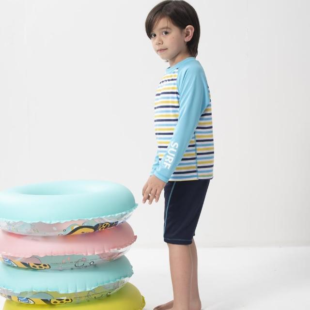 【SARBIS】兒童兩截式長袖防曬泳裝 泡湯專用附泳帽(B662003)