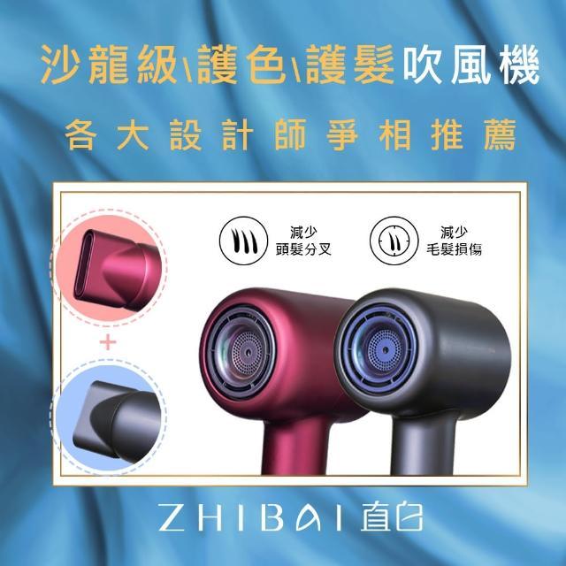 【ZHIBAI直白】極速乾 智能溫控 負離子 數位馬達 護色吹風機(HL906)-2入組(小米供應鏈台灣總代公司貨)