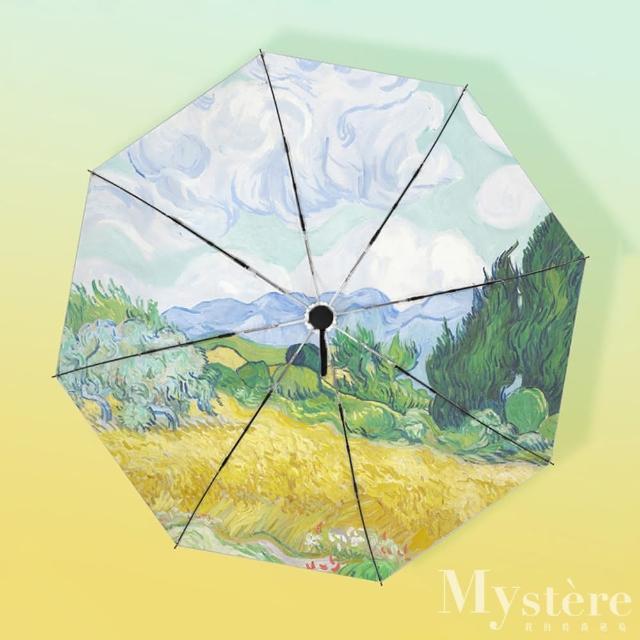 【my stere 我的時尚秘境】日系鈦銀不透光/抗UV防曬/晴雨傘/手動傘(防曬係數50 手動 防風 晴雨兩用傘)