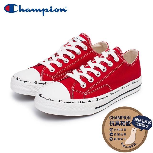 【Champion】男/女 帆布鞋 休閒鞋 CLASSIC CP CANVAS-紅(USLS-1013-33)
