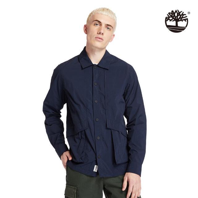 【Timberland】男款深寶石藍Field Trip快乾長袖襯衫外套(A251U433)