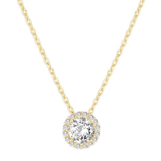 【CReAM】Anila 美國AAA+ CZ亮鑽16顆亮鋯石純銀鍍14K金項鍊(金色/可調整長度)