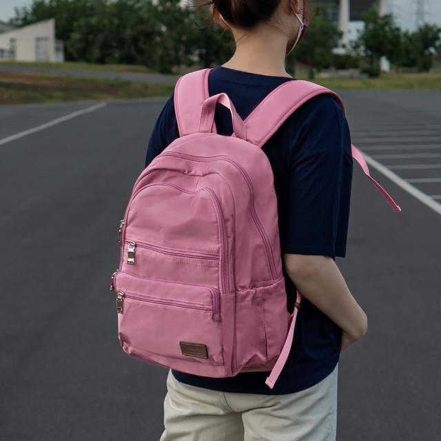 【J II】後背包-極限水洗雙拉鍊後背包-莓果粉-6566-23(後背包)