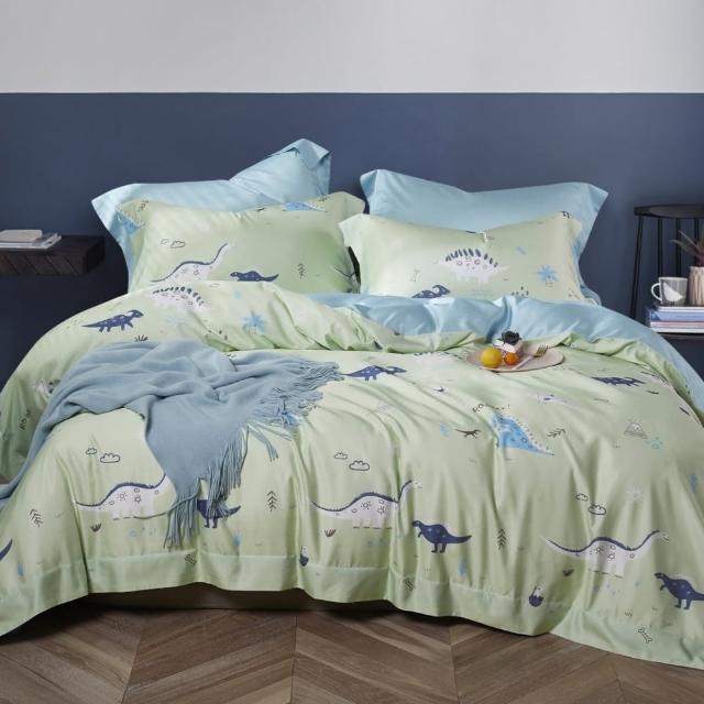 【LAMINA】侏羅紀草原 天絲四件式兩用被套床包組(雙人)
