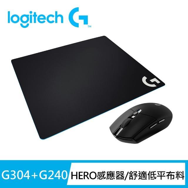 【Logitech G】G304 無線電競滑鼠(黑色)+G】G240布面滑鼠墊