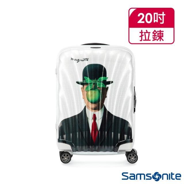 【Samsonite 新秀麗】x Magritte 20吋C-LITE極輕Curv材質經典貝殼登機箱(MAN OF SON)