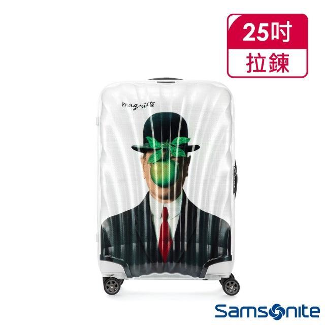 【Samsonite 新秀麗】x Magritte 25吋C-LITE極輕Curv材質經典貝殼登機箱(MAN OF SON)