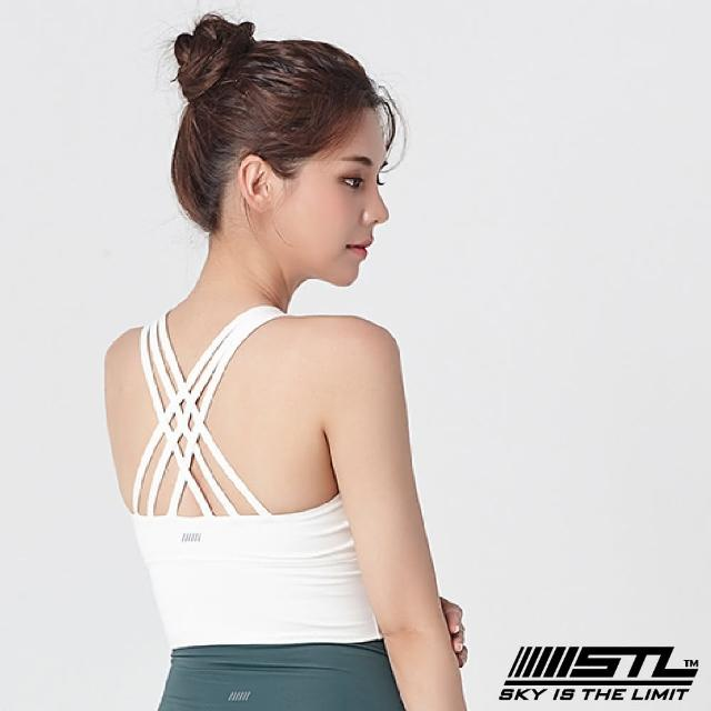 【STL】yoga Crop Top Bra 123 韓國瑜伽「專利記憶棉胸墊」機能運動內衣/短版上衣(白OffWhite)