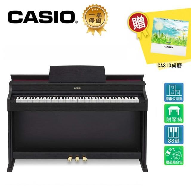【CASIO 卡西歐】AP-470 BK 88鍵數位電鋼琴 經典黑色木質款(原廠公司貨 商品保固有保障)