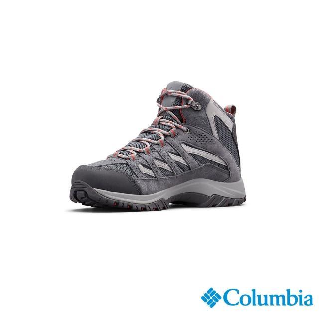 【Columbia 哥倫比亞】女款- Omni-Tech 防水健走鞋-灰色(UBL53710DY / 防水.運動.靴子)