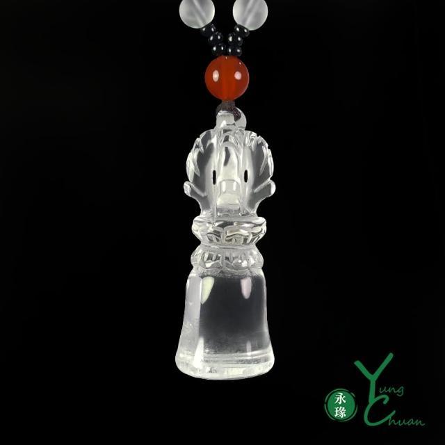 【YC 寶石】天然白水晶轉運護身十字金剛鈴項鍊(@D280)