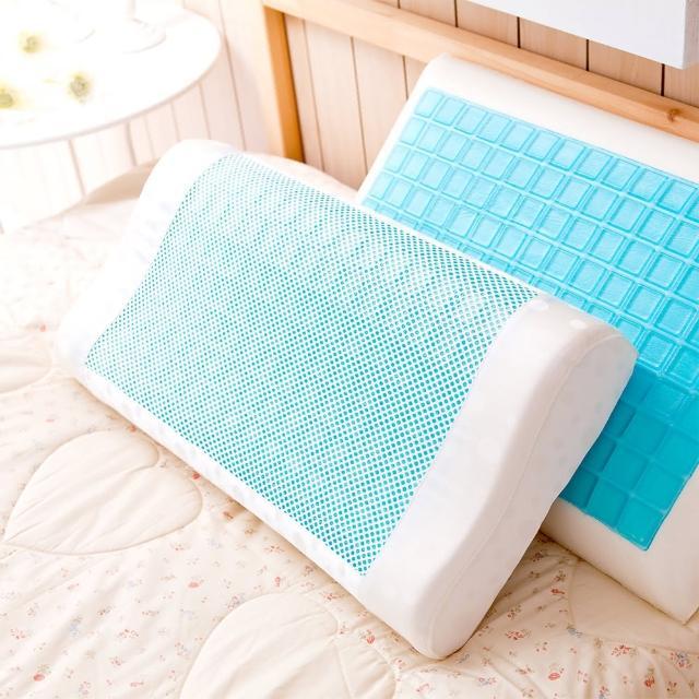 【Jenny Silk 名流寢飾】哈妮士.冷凝膠.工學型氣泡枕.超清涼.全程臺灣製造(60X30X11cm)