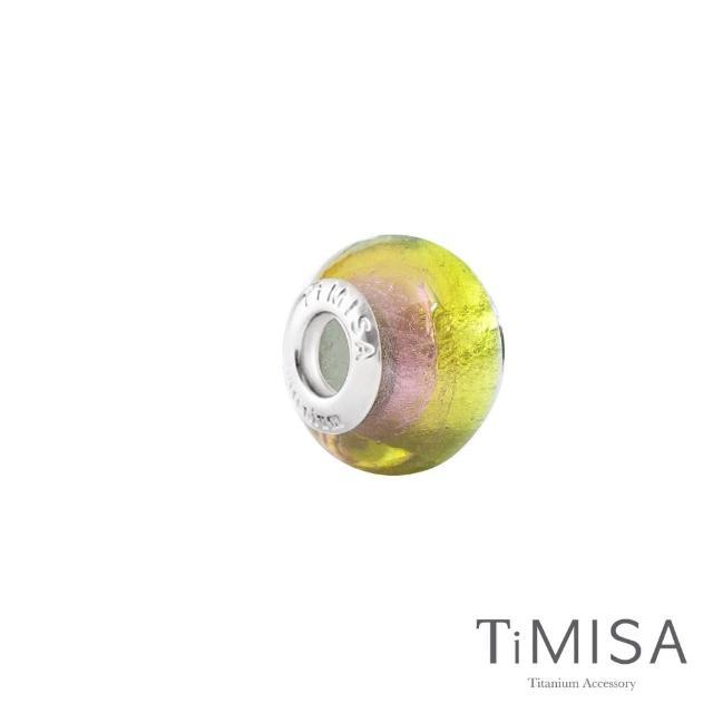 【TiMISA】薄荷綠香 純鈦飾品 琉璃串珠(11mm)