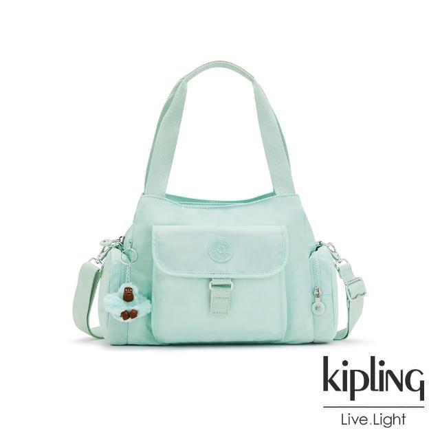 【KIPLING】神秘薄荷藍好收納手提兩用斜背包-EIRENE