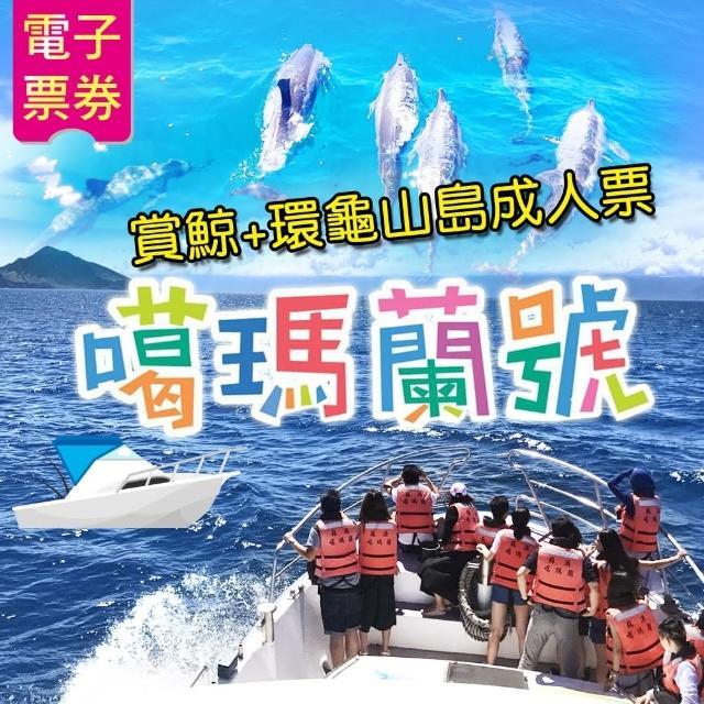 【噶瑪蘭號】賞鯨+環龜山島成人票