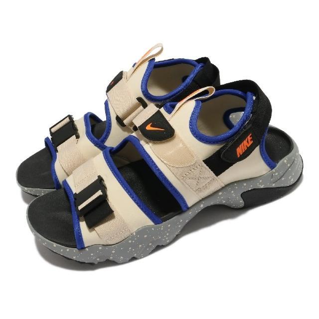 【NIKE 耐吉】涼鞋 Canyon Sandal 男女鞋 基本款 魔鬼氈 情侶穿搭 夏日 米白 灰(CI8797-202)