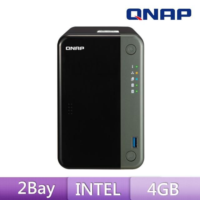 【送希捷 4TB x1】QNAP 威聯通 TS-253D-4G 2Bay 網路儲存伺服器